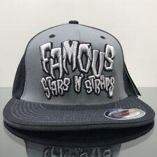 FAMOUS STARS & STRAPS DEVOUR FLEXFIT CAP  BLACK GREY (S/M)