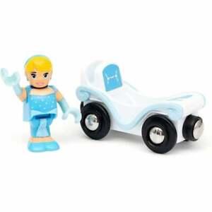 33322 Brio Disney Princess Cinderella & Wagon - Wooden Railway - UK Seller
