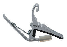 KYSER KG6SA QUICK CHANGE 6 STRING GUITAR CAPO - SILVER - NEW!