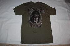 Mens S/S Novelty Tee Shirt RINGLING BROS. CIRCUS GORILLA Dark Army Green M 38-40