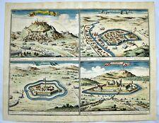 Giovanni G. de ROSSI 1686 Map Plans SIKLOS PALOTTA S. Nicolo Hungary