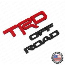For Toyota TRD Off Road Sport Logo Badge Liftage Tailgate Emblem Black Red