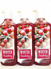 Bath Body Works WINTER CRANBERRY Deep Cleansing Hand Soap NEW x 3