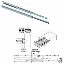 Drawer Runners (Pair) 432mm - 620mm For 17mm Grooved Drawers 420.68.400 (Hafele)
