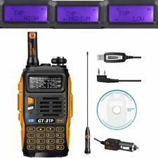 Baofeng GT-3TP MarkIII 1/4/8Watt 136-174/400-520MHz Ham Two-way Radio + Cable&CD