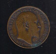 1909 1 Farthing - Edward VII COIN BRITISH BRITAIN BRONZE VG