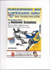 DEL Eishockey Programm: NÜRNBERG ICE TIGERS - HANNOVER SCORPIONS 22.02.1998