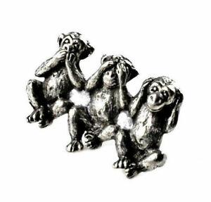 Three Wise Monkeys Lapel Pin