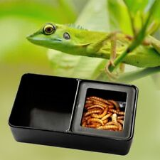 Portable Reptile Plastic Grid Feed Box Food Water Dish Pet Tortoise Gecko Gift .