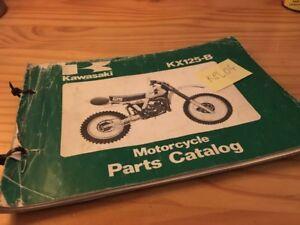 Kawasaki Piezas List KX125 B1 B2 KX 125 125KX Catálogo Piezas Repuesto Éd. 82