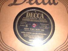 78RPM Decca 23720 Eddie Condon, Just You, Just Me / Atlanta Blues weak V