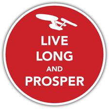 live long and prosper star trek sticker 85mm diameter