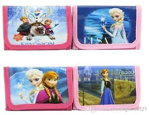 12 Randam Disney Frozen Film Princess Pink child Girl / Boys Wallet, Purse