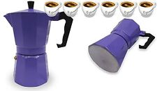 Espresso Stove Top Coffee Maker Continental Moka Percolator Pot 6 Cup Purple