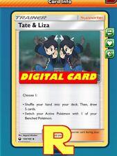 2x Tate & Liza - for Pokemon TCG Online ( DIGITAL ptcgo in Game Card)