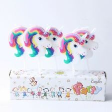 UNICORN CANDLES 5 PIECE PACK HAPPY BIRTHDAY DECORATIONS BIRTHDAY CAKE CANDLE