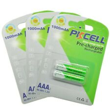 6pcs NiMh AAA Pre-charged Rechargeable Battery AAA 1.2V 1000mAh Battery PKCELL