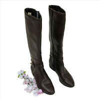 EUC Impo Acorn Stretch Knee High Brown Boots US 6-1/2 M
