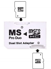 Micro SD TF Memory Stick MS Pro Duo Card Dual 2 Slot Adapter Converter For PSP