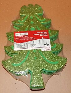 "Christmas Foam Felt & Corrugated Shapes Creatology 11pc Value Pack 10"" Trees 92A"