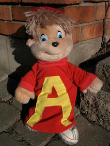 "15"" Vintage 1988 ALVIN SEVILLE Chipmunk Adventure Movie PLUSH Doll STARSHINE"