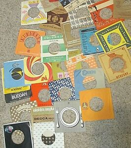 Lot of 84 Vintage 45 rpm Company Sleeves ONLY,  NO RECORDS, FREE SHIPPING