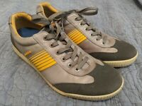 ECCO Hydromax Leather Men's Spikeless Golf Shoes Size 44 (10 US ) Gray Yellow