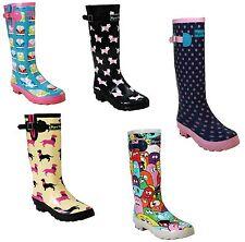 WOMENS FESTIVAL WELLIES WATERPROOF SNOW RAIN CALF WELLINGTON LADIES BOOTS UK 3-8