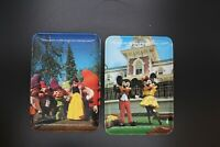 VINTAGE MICKEY MOUSE PLASTIC PLATES  MADE IN ITALY WALT DISNEY