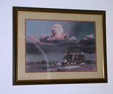 BILL JAXON- TWO DAYS FROM THE RED- SIGNED LITHOGRAPH FRAMED -COA