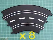 ARTIN 1:32 SLOT CAR ROAD RACING pista curve x 8 sostituire aggiornare o ampliare