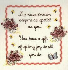 ANYONE AS SPECIAL AS YOU Friend Counted Cross Stitch Kit ~ NEW