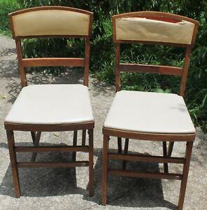 2 Vtg Ferguson Folding Dining Chairs