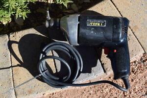 "VINTAGE Sears Craftsman USA 3/8"" Electric Drill Model #315.11450  w/key chuck"