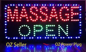 LED Open, Massage Open Signs, BIG SIZE, 60x30cm, 24Hr delivery, OZ Seller