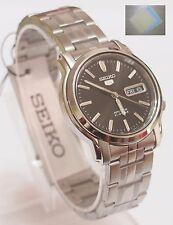 (Gift) + SNKK71K1 SEIKO 5 Stainless Steel Band Automatic Men's Black Watch New