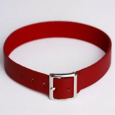 Punk Chain Collar Necklace Leather Buckle Choker Bracelet Red