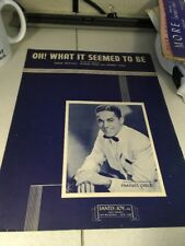 Sheet Music: Oh What it seemed to Be, Frankie Carle 1945