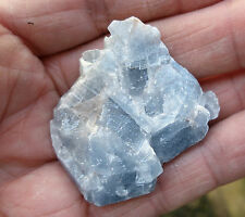1 - BLUE CALCITE ROUGH UNPOLISHED CRYSTAL  30mm * GIFT BAG - ID CARD *