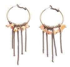 Enchanting Rustic Bronze/orange Stone Chandelier Style Metal Earrings(Zx175)
