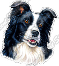 "Border Collie Breed Animal Dog Canine Pet Car Bumper Vinyl Sticker Decal 4""X5"""
