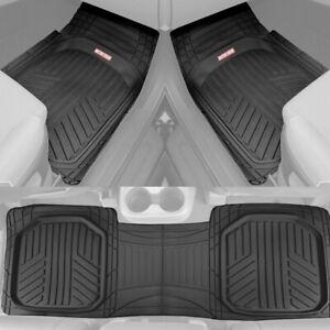 Motor Trend TriFlex Deep Dish All Weather Floor Mats for Car SUVs Trucks - Black