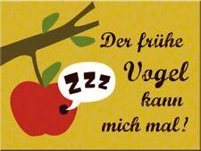 MAGNET 14249 - DER FRÜHE VOGEL KANN MICH MAL - 8 x 6 cm - NEU