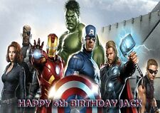THE AVENGERS ASSEMBLE - PERSONALISED Birthday Card Any Name & Age Free P&P