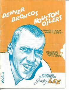 1962 Denver Broncos-Oilers Program Broncs Drop Home Opener NICE!!