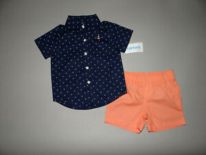 NWT, Baby boy clothes, 12 months, Carter's 2 piece set/   ~~SEE DETAILS ON SIZE~