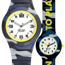 Box Set Reloj HIP HOP LITLE ME HK0047 Azul 42mm 28mm Silicona Camouflage Militar