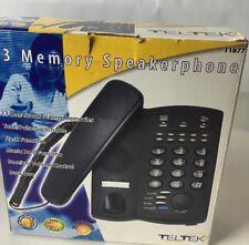 Teltek Speakerphone T1877 New Music Hold Data Port 13 Dialing Memory Data Port