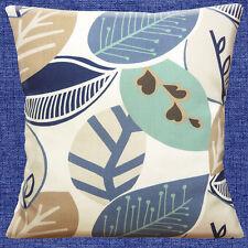Shabby Chic GRANDE hojas blanco roto Azul Huevo De Pato Beis 40.6cm Funda Cojín