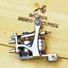 """LINER"" (NICKEL PLATED) BORDER TATTOO MACHINE,CUSTOM JONESY IRON FRAME 8 LAYER"